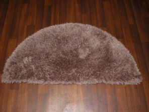 HALF MOON SHAGGY RUGS 60CMX120CM WOVEN REALLY GOOD QUALITY SUPER THICK BEIGE